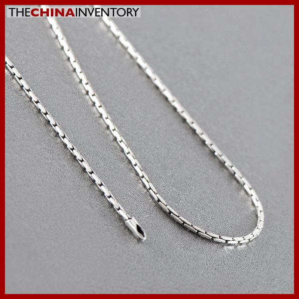 "1MM 18"""" 925 STERLING SILVER BAMBOO NECKLACE SIL0901A"