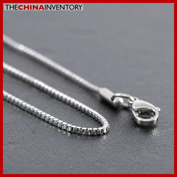 "1.2MM 18"""" STAINLESS STEEL MINI BOX CHAIN NECKLACE N1012"