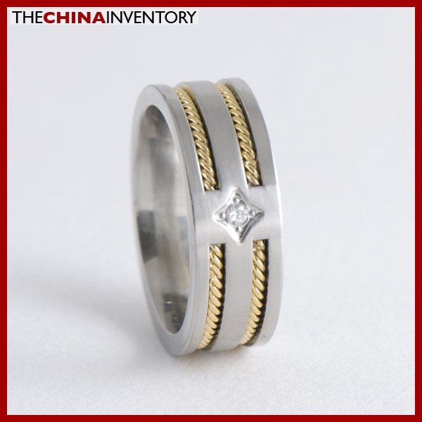 8MM SIZE 9 POLISHED STAINLESS STEEL BAND RING R0711B
