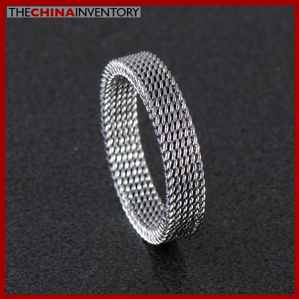 4MM SIZE 5.5 STAINLESS STEEL FLEXIBLE MESH RING R0307B