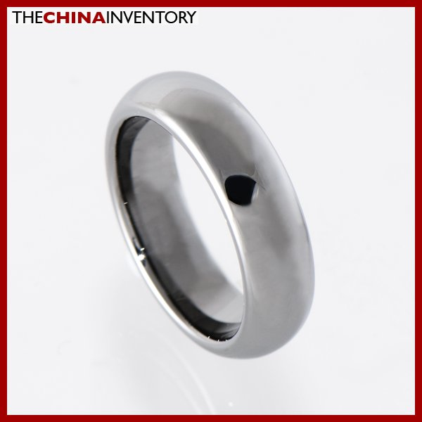 5.5MM SIZE 6 POLISHED TUNGSTEN CARBIDE COURT RING R1413