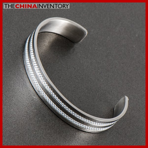 "6 1/2 """" STAINLESS STEEL CARBON FIBER CUFF BANGLE B0519D"