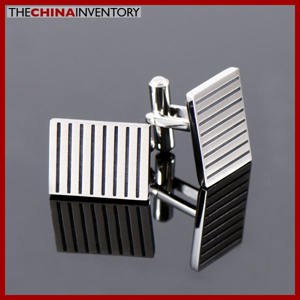STAINLESS STEEL RECTANGULAR CUFFLINKS CUFF LINKS C1103