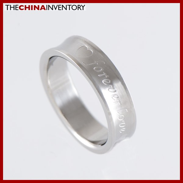 5MM SIZE 7 STAINLESS STEEL FOREVER LOVE BAND RING R1302