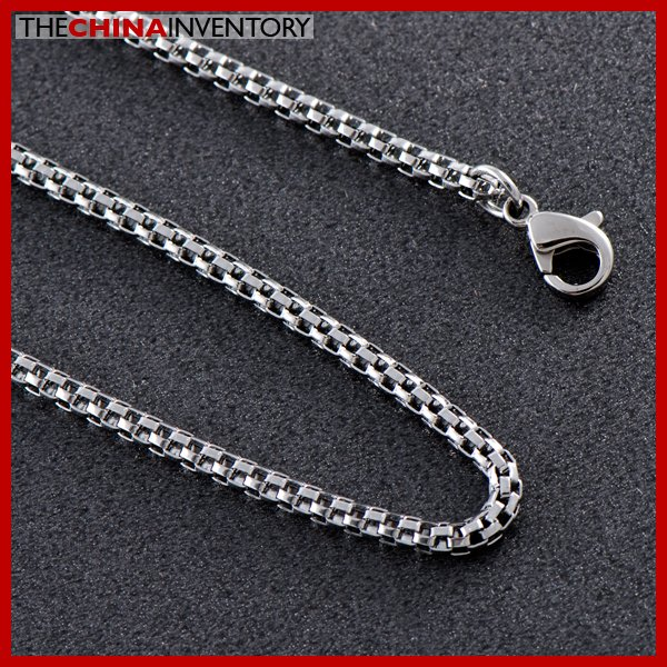 """18"""""""" POLISHED STAINLESS STEEL SNAKE CHAIN NECKLACE N0714"""