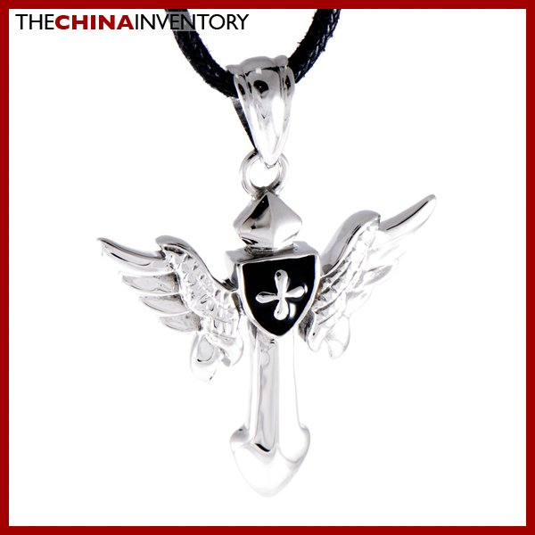 STAINLESS STEEL FLYING SHIELD PENDANT NECKLACE P0849