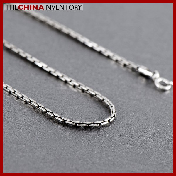 """1MM 20"""""""" 925 STERLING SILVER BAMBOO NECKLACE SIL0902A"""