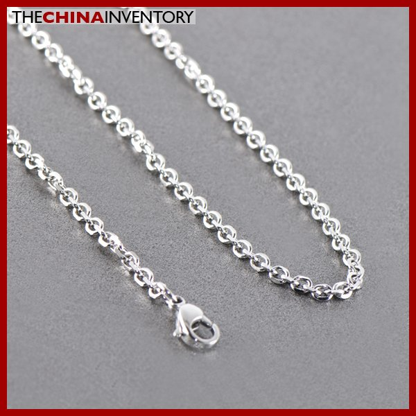 "3MM 18"""" STAINLESS STEEL CABLE CHAIN NECKLACE N1308"
