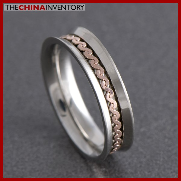 SIZE 6 STAINLESS STEEL WEDDING BAND RING R0707