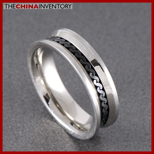 SIZE 9 STAINLESS STEEL WEDDING BAND RING R0706