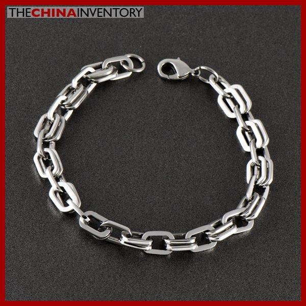 STAINLESS STEEL DOUBLE CHAIN BRACELET B0512