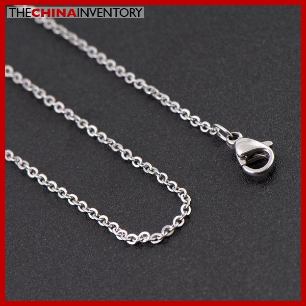 """1.5MM 18"""""""" STAINLESS STEEL CABLE CHAIN NECKLACE N1804"""