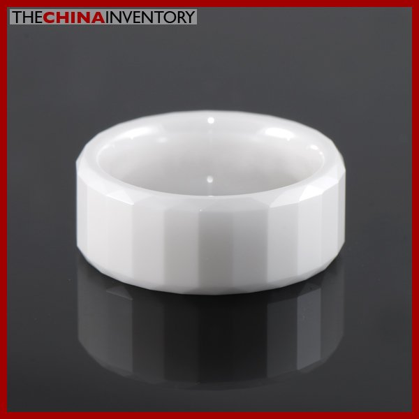 8MM SIZE 5.5 FACETED CERAMIC WEDDING BAND RING R1408