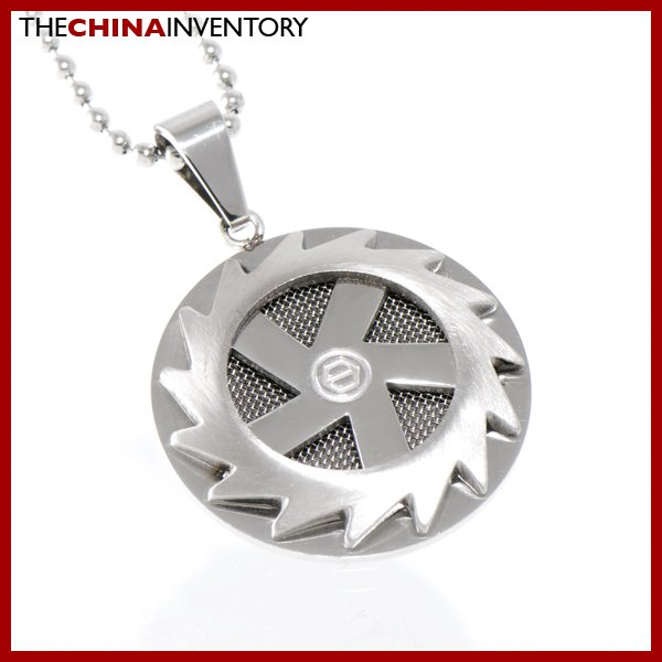 STAINLESS STEEL FIRE WHEEL TAG PENDANT P1404