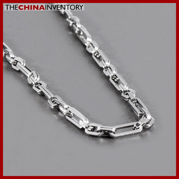 """22"""""""" STAINLESS STEEL DOUBLE LINKS NECKLACE N1013"""