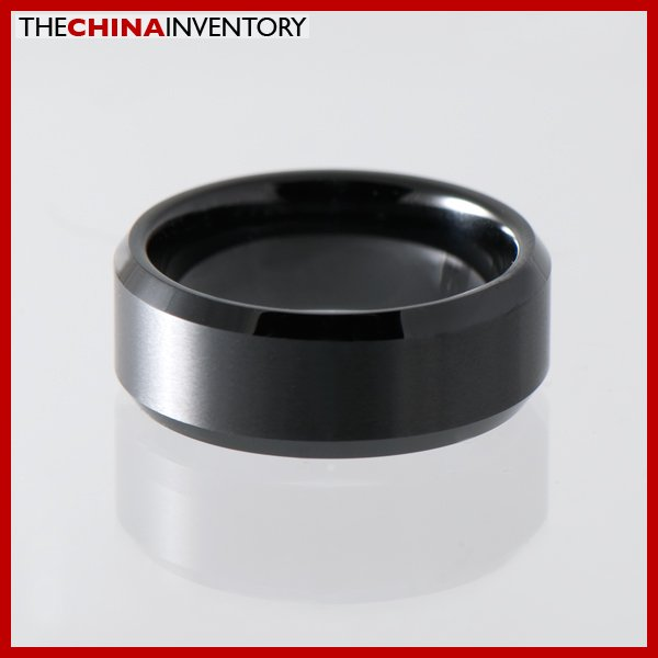 8MM SIZE 6.5 MEN'S CERAMIC FLAT WEDDING BAND RING R1303