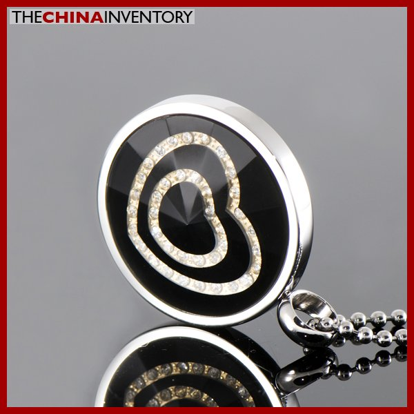 STAINLESS STEEL ROUND PENDANT NECKLACE P1203