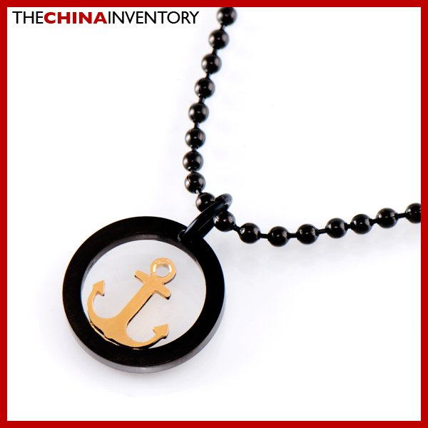 STAINLESS STEEL ANCHOR CHARM PENDANT NECKLACE P1807