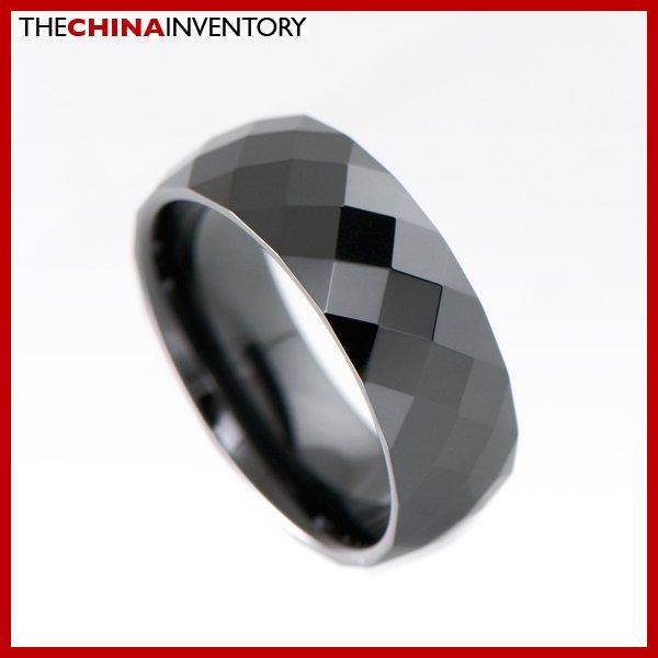8MM SIZE 6 BLACK CERAMIC WEDDING BAND RING R1909