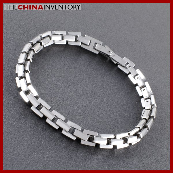 """7MM 8"""""""" STAINLESS STEEL SQUARE LINK CHAIN BRACELET B0521"""