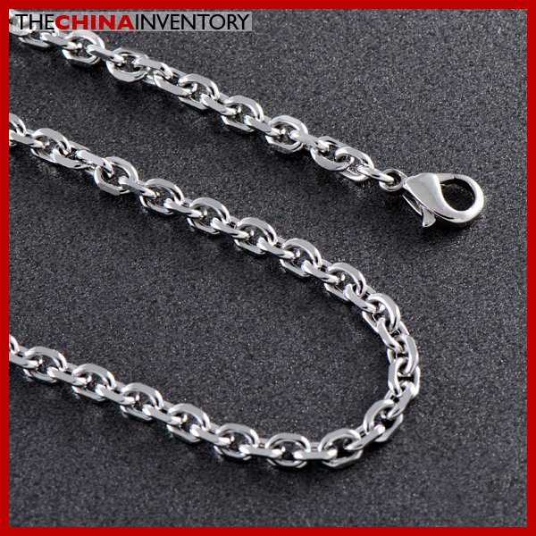 """6MM 36"""""""" STAINLESS STEEL FACETED CHAIN NECKLACE N1103"""