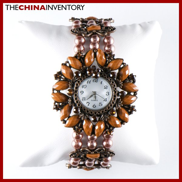 WOMEN'S BROWN FASHION BRACELET BANGLE WATCH W0136