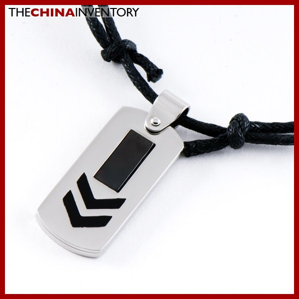 STAINLESS STEEL ROAD SIGN TAG PENDANT P0810