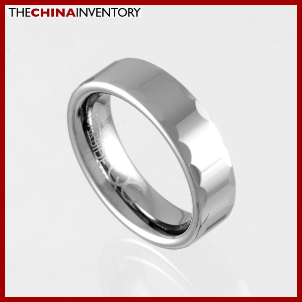 6MM SIZE 7.5 FACETED TUNGSTEN CARBIDE BAND RINR0915
