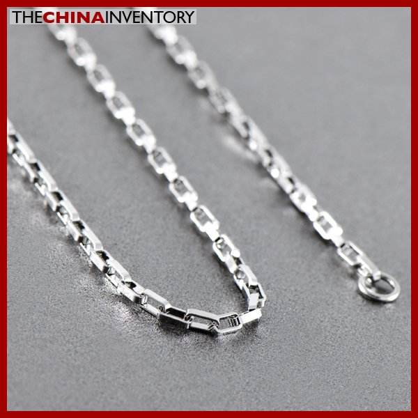 """3MM 20"""""""" STAINLESS STEEL LONG BOX CHAIN NECKLACE N1215"""