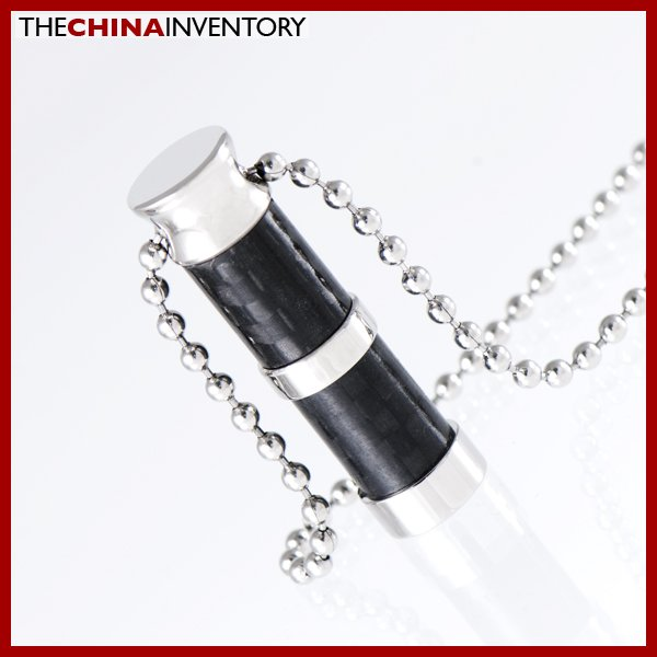 STAINLESS STEEL CARBON FIBER TUBE PENDANT P1108