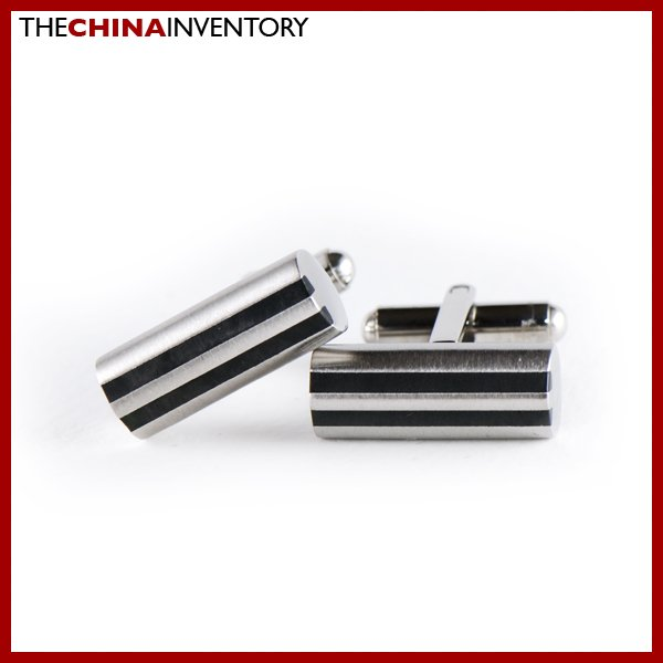 STAINLESS STEEL CYLINDRICAL CUFFLINKS CUFF LINKS C0105