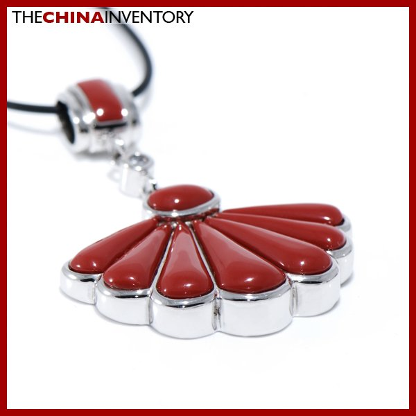 LADIES SHELL AGATE 925 STERLING SILVER PENDANT SIL0509B