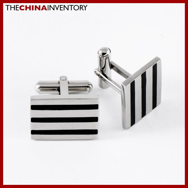 STAINLESS STEEL RECTANGULAR CUFFLINKS CUFF LINKS C1003