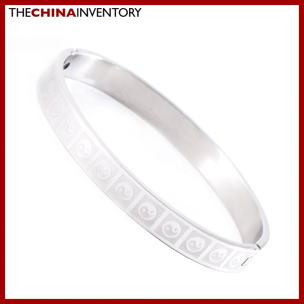 8MM STAINLESS STEEL YINYANG BAGUA BANGLE BRACELET B0830