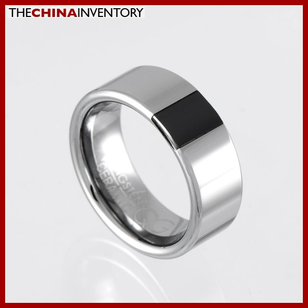 8MM SIZE 5.5 TUNGSTEN CARBIDE CERAMIC BAND RING R0921B
