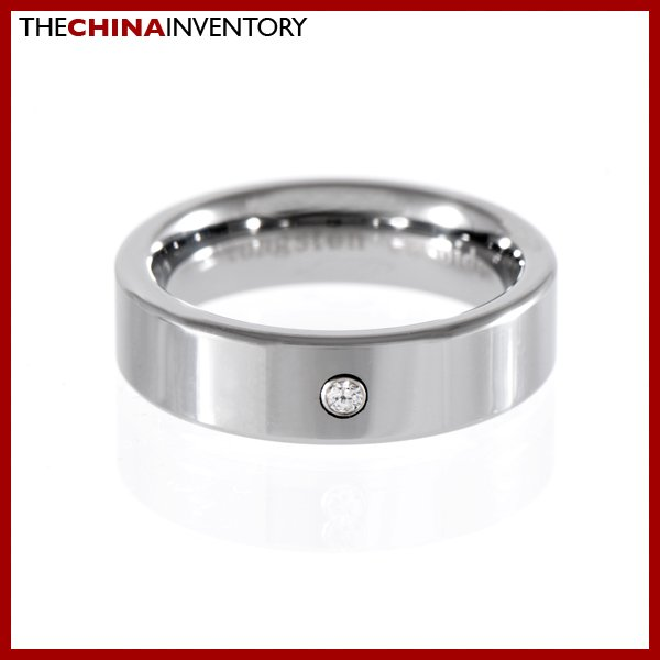 6MM SIZE 8 TUNGSTEN CARBIDE CZ WEDDING BAND RING R1203