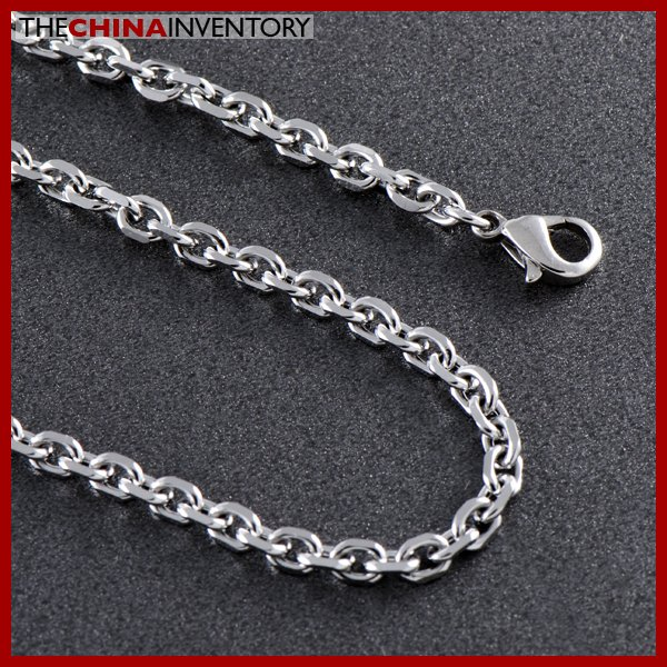 "6MM 22"""" STAINLESS STEEL FACETED CHAIN NECKLACE N1103"