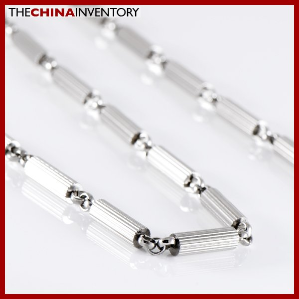 """21 /2"""""""" STAINLESS STEEL CYLINDER NECKLACE N1203"""