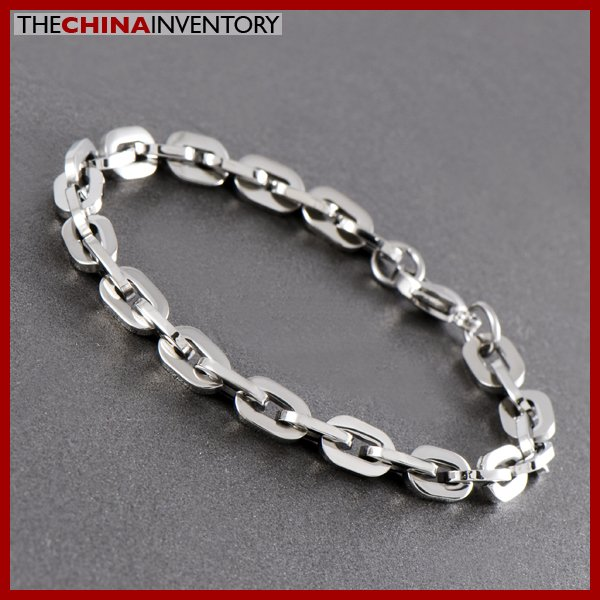 "8 1/2"""" STAINLESS STEEL OVAL CHAIN BRACELET B0710B"