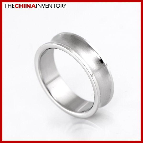 6MM SIZE 8 STAINLESS STEEL WEDDING BAND RING R1302B