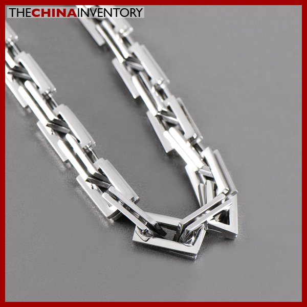 """24"""""""" STAINLESS STEEL RECTANGULAR LINKS NECKLACE N1303"""