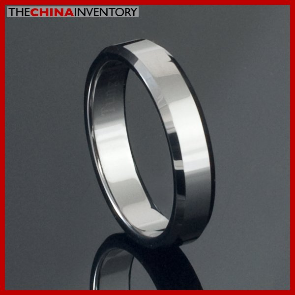 4MM SIZE 5 TUNGSTEN CARBIDE BEVELED EDGE RING R2105A