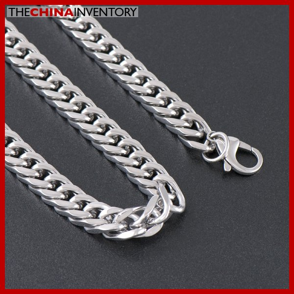 """10MM 36"""""""" STAINLESS STEEL LONG CURB CHAIN NECKLACE N1702"""