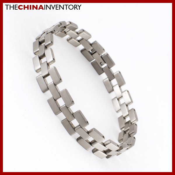 "GENTS 8 1/4"""" SOLID TITANIUM WATCHBAND BRACELET B0609"