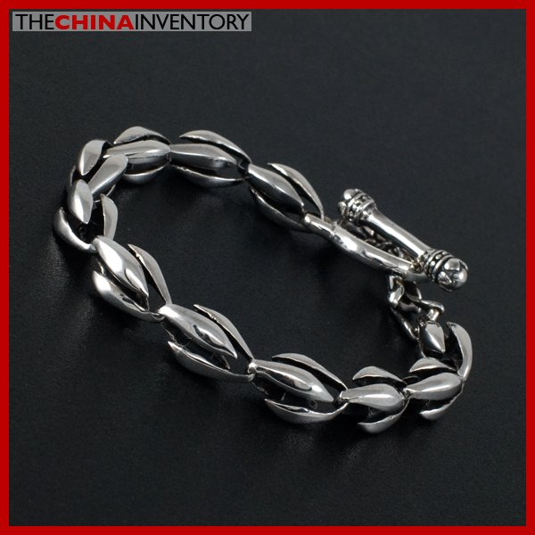 925 STERLING SILVER ARMOR CHAIN TOGGLE BRACELET SIL1704