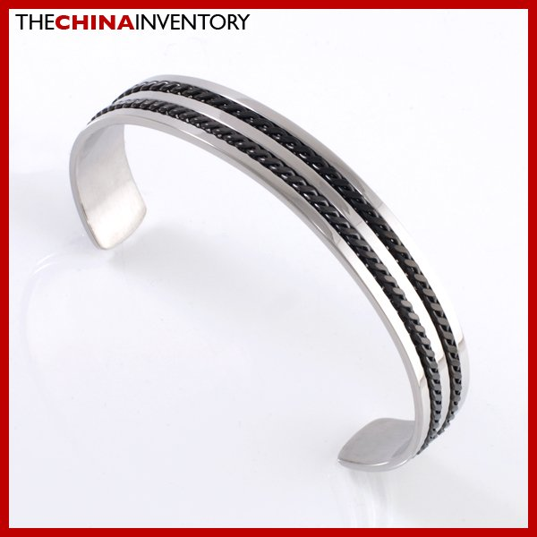 """7 1/2"""""""" STAINLESS STEEL DOUBLE CURB CHAIN BANGLE  B2108B"""