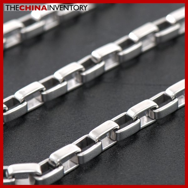 55CM STAINLESS STEEL LONG BOX CHAIN NECKLACE N2104
