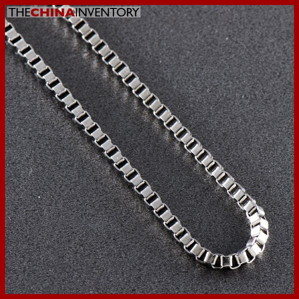 "3.2MM 24"""" MENS STAINLESS STEEL BOX CHAIN NECKLACE N0501"