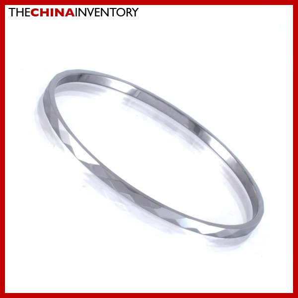3MM TUNGSTEN CARBIDE FACETED BANGLE BRACELET B1710