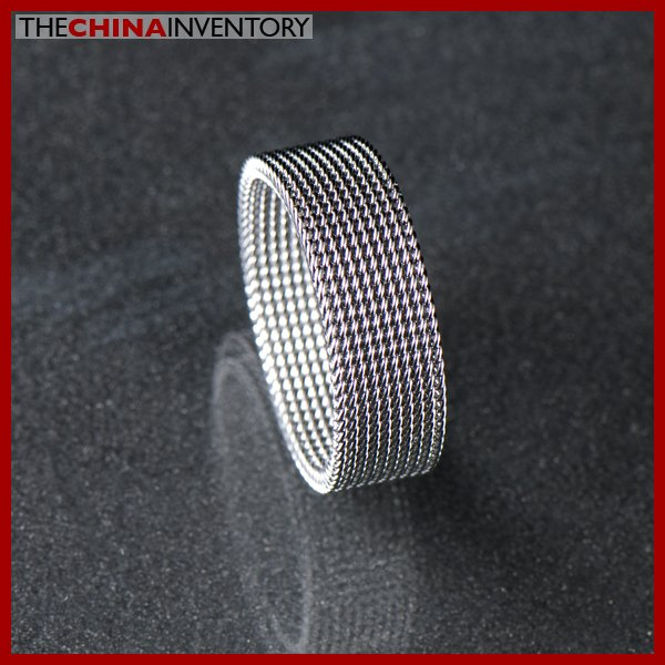 STAINLESS STEEL FLEXIBLE MESH RING SIZE 8 R0307